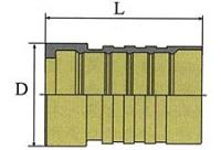 Втулка для шланга SAE 100R15 со снятем наружного слоя (Interlock